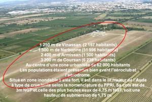 Aérodrome de Narbonne - Vue aérienne